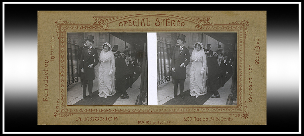 1910s 3-D Wedding Party