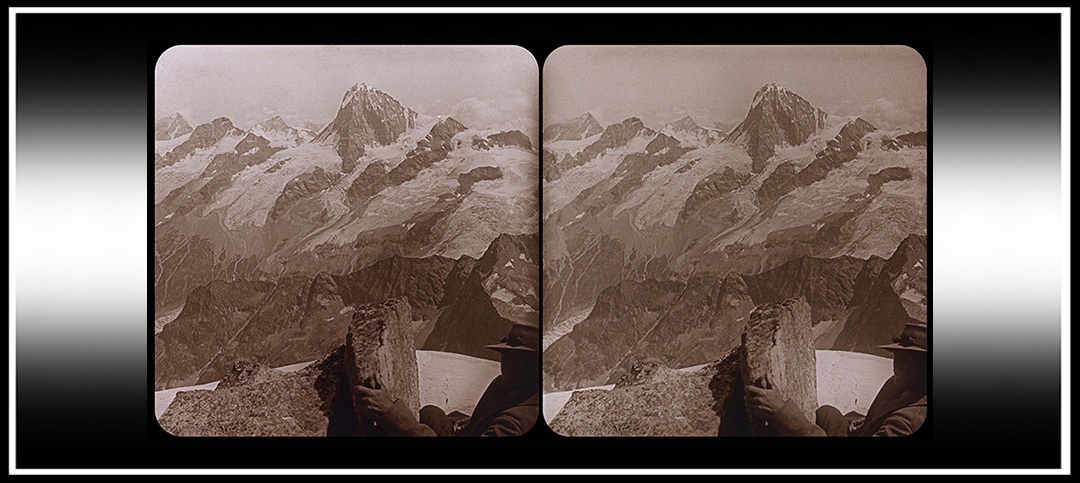 Exploring the Alps in 3D with a Jules Richard VerascopeCamera